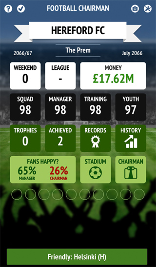 Football Chairman Summary